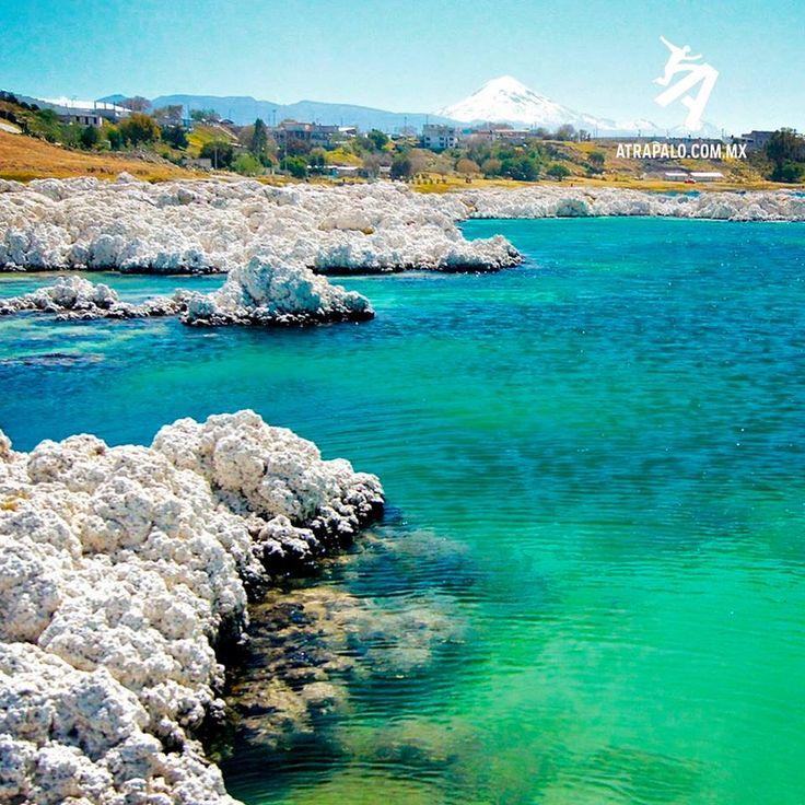 VERACRUZ La Laguna de Alchichica en Veracruz es todo un deleite para los visitantes por sus formaciones rocosas que parecen corales blancos. Está situada en uno de los cráteres y la principal particularidad de esta laguna es que sus aguas contienen un alto índice de salinidad, por lo que se dice que es una pequeña extensión del mar.