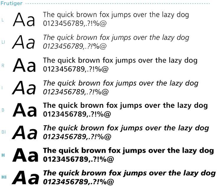可読性・判読性の高い「Frutiger」や「Univers」などのフォントもオススメです。ただし、このような美しいフォントは、標準的なフォントではありません。このような「フォント集」などを購入することで、比較的安く、様々な書体を手に入れることができます(フォント名が変わっている場合があります)。