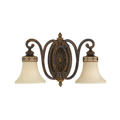 Feiss VS11202-WAL The Edwardian Collection 2 Light Bath Vanity Light