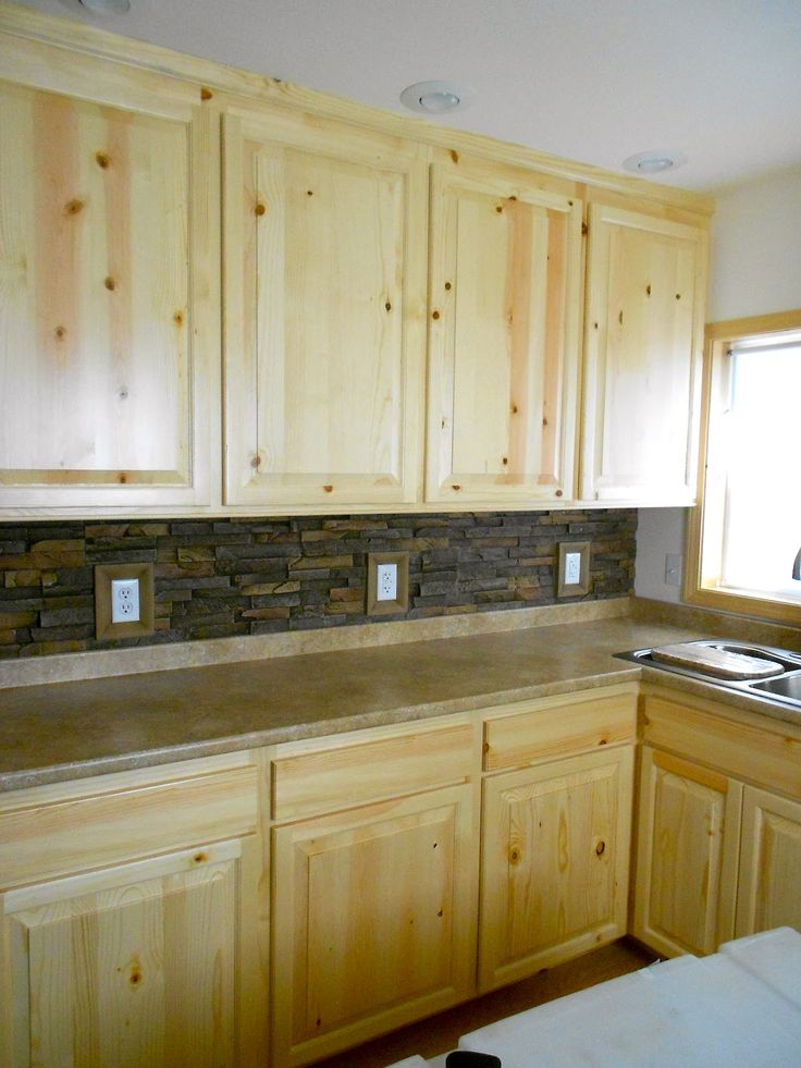 16 Best Knotty Pine Cabinets Kitchen Images On Pinterest