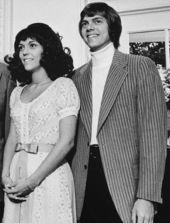 Karen and Richard Carpenter, at the White House on August 1, 1972