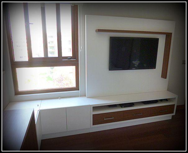 Panel TV y cajones con apertura frontal y superior