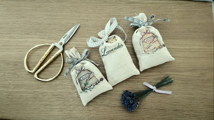 My handmade bags with lavender