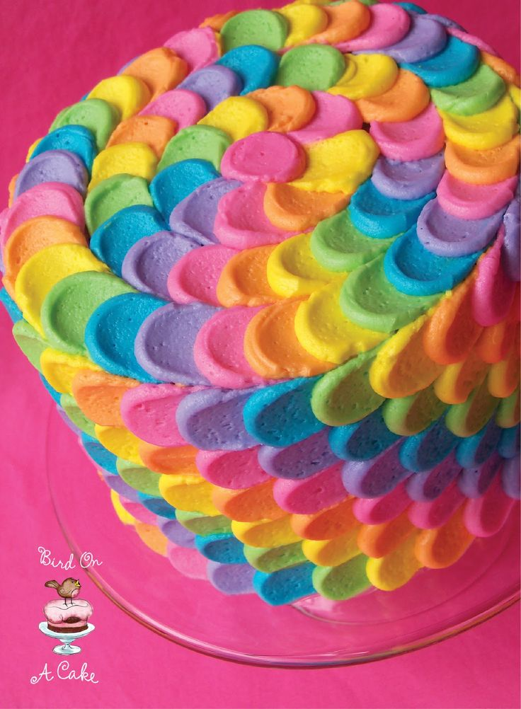 17 best ideas about petal cake on pinterest color cake for Rainbow petals