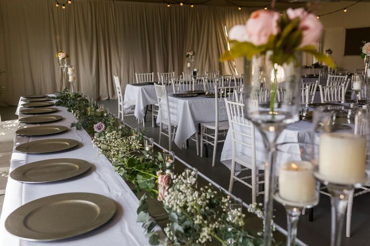 We can fit 80-100 people in our venue for a sit down reception! The space is completely customisable for your preferences! Contact Stacie Young on 0405 031 232 or at cookiedoeweddings@outlook.com Image by Glass Slipper Photography & Hire from Gold Coast Wedding and Event Hire.