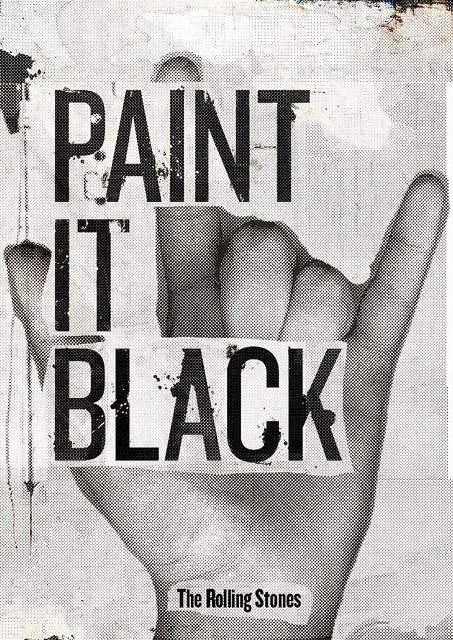 Paint it Black by - vanth -, via Flickr  When in doubt about an old, beat up piece of furniture...: