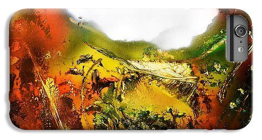 Golden Valley IPhone 6 Plus Case Printed with Fine Art spray painting image Golden Valley by Nandor Molnar (When you visit the Shop, change the orientation, background color and image size as you wish)