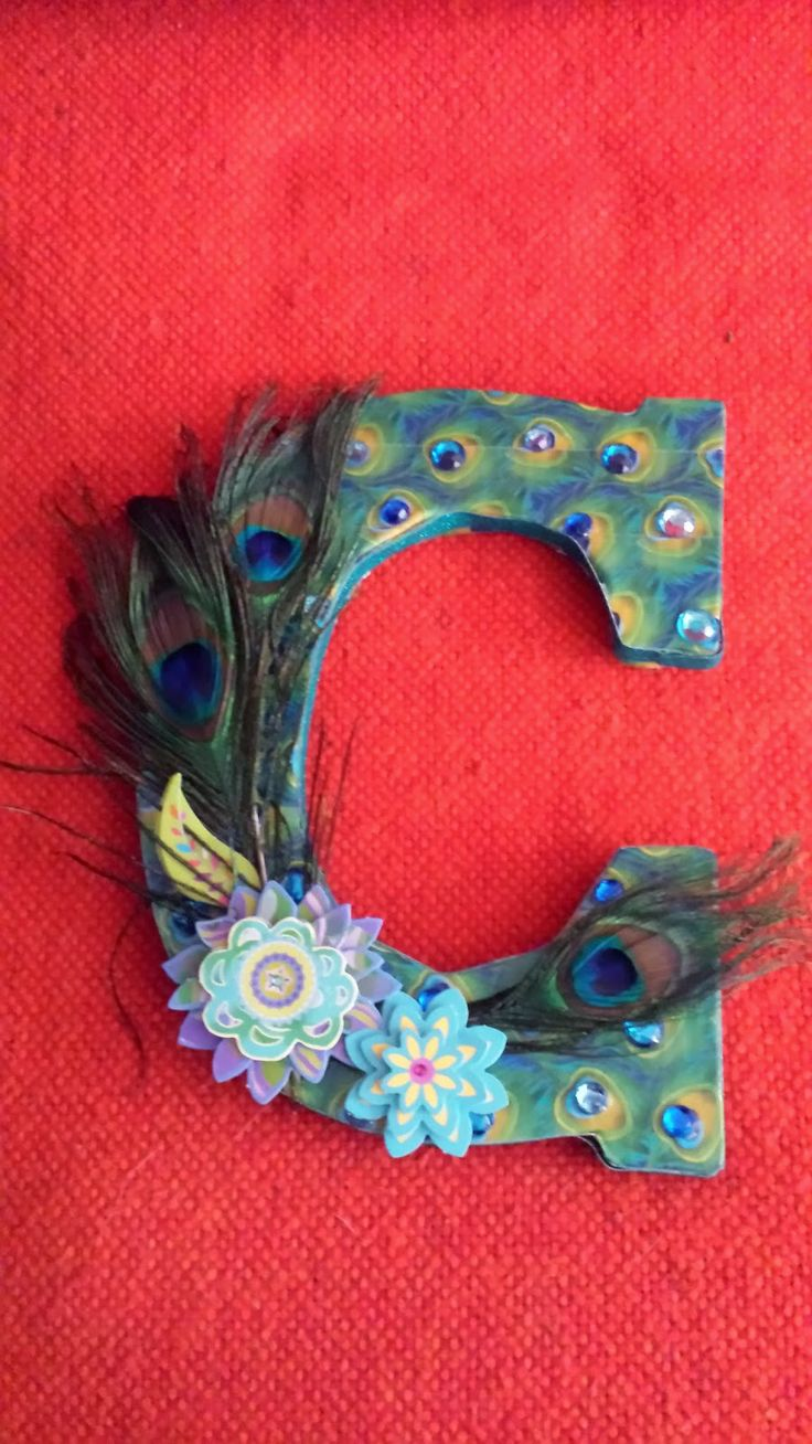 Peacock Duct Tape Feathers Rhinestones Anddimensional