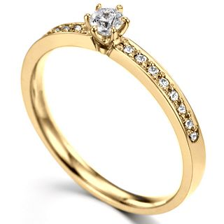 Anel Solitário de Diamantes - Anel de Noivado