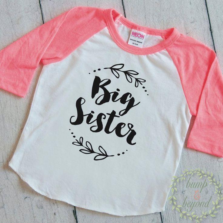 Big sister shirt little sister shirt girl sibling shirts for Big sister birth announcement shirts