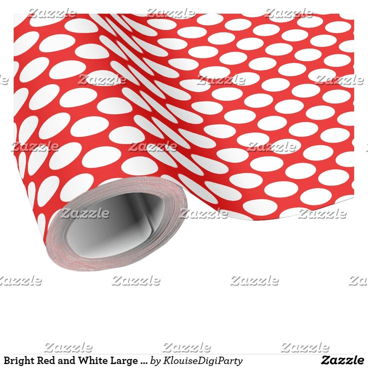 Bright Red and White Large Polka Dots Wrapping Paper