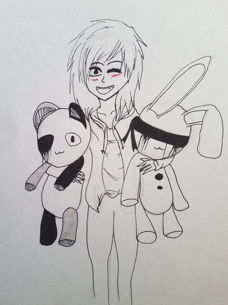 """I love teddy bears"" Quick Sketch by Twisted Artist"