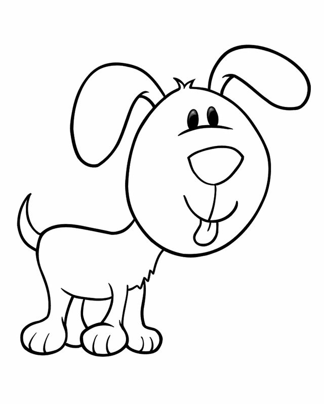 Cartoon coloring pages Puppy 1 Coloring, Free printable