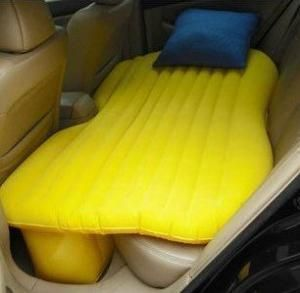 Inflatable car bed. About TIME someone invented this. haha!