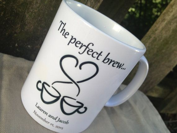 coffee mug wedding favors  Google Search   Mug Ideas  Wedding Favors Coffee wedding favors