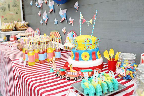 Décoration cirque pour l'anniversaire de Calixte et Zadig ! Circus deco kid birthday (Coiffure Pour Garcon)