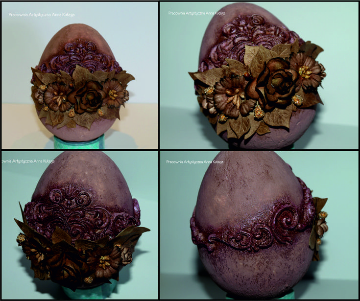 Mix-media Easter Egg by Anna Kułaga