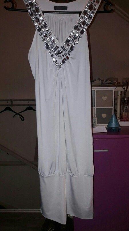 Witte jurk tuniek maat M a L met pailletten