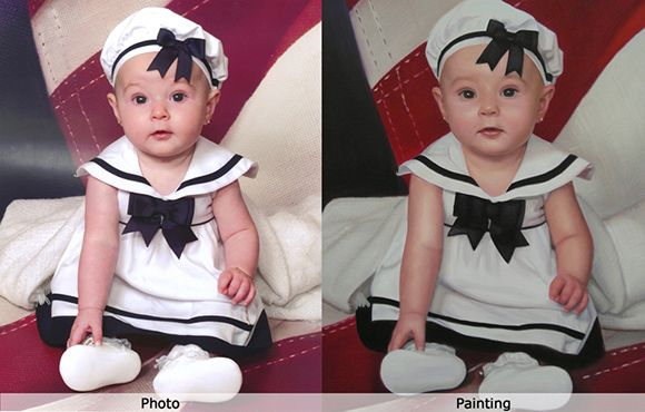 The professional portrait painters based in Sydney Australia will convert your baby photo into painting by using their skill. Come and meet with the professionals of We Paint It.