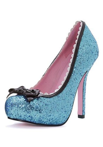 Glitter Blue Heels - Sexy Alice in Wonderland High Heel Shoes $36.99 How far do I want to take this?? :o)