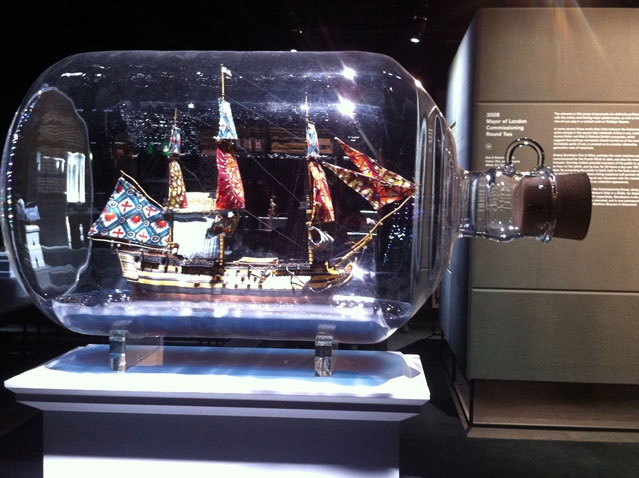 Nelson's ship in a Bottle, maquette proposal 2007 for Fourth Plinth, Trafalgar Square