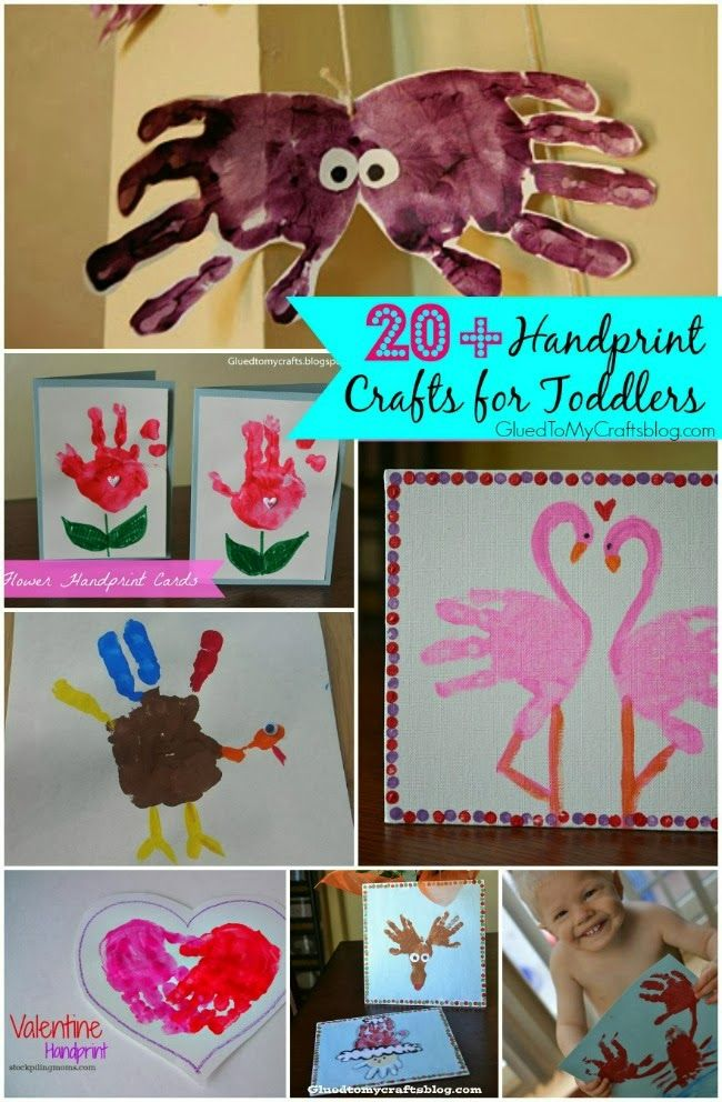 20+ Handprint Crafts for Toddlers {Roundup}