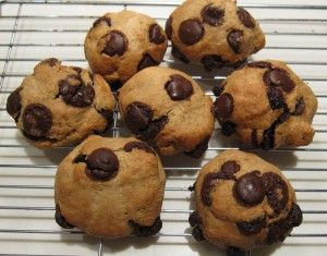 Healthier Vegan Choc Chip Cookies. They are brilliant and VEGAN!! woo no need to hurt animals when making cookies