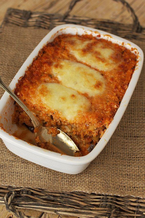 Cinco Quartos de Laranja: Gratinado de quinoa com beringela e queijo