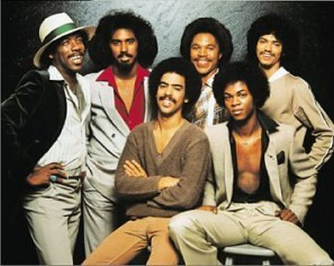 Switch - One of my favorite groups from the 70's.  Left to right: Greg Williams, Phillip Ingram (James Ingram's brother), Thomas DeBarge, Eddie Fluellen, Jody Sims, Bobby DeBarge.