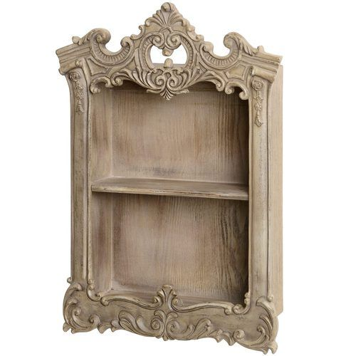 Wall Display Curio Cabinet Shelf Unit Elegant Shabby Chic