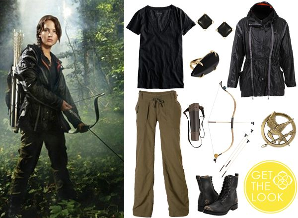 Hunger Games Party Hunger Games Costume Game Costumes Hunger Games Activities Hunger Games Crafts Halloween Costumes Party Games Diy Costumes Katniss Costume Forward DIY bow for a Hunger Games / Brave / Avengers / LOTR inspired party.