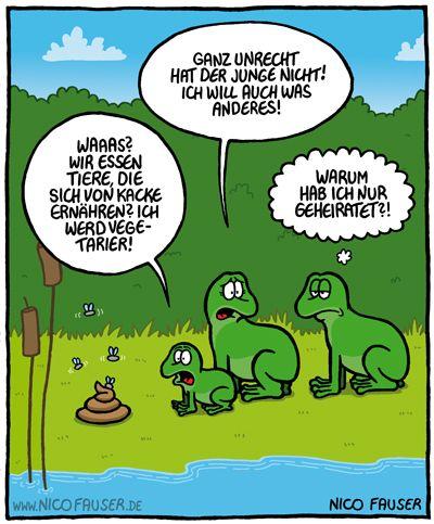 """Frosch: """"Ich werd' Vegetarier!"""""""