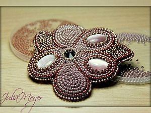 Вышиваем брошь «Сиреневый цветок» - Ярмарка Мастеров - ручная работа, handmade