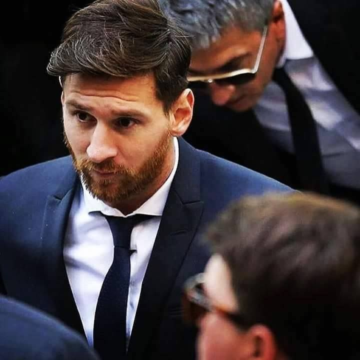 Messi with a beard just looks strange.