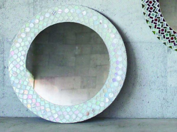 FOI モザイク ラウンドミラー:モロッコスタイル 壁掛け鏡 QMDT2030