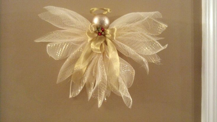 Gold deco mesh angel
