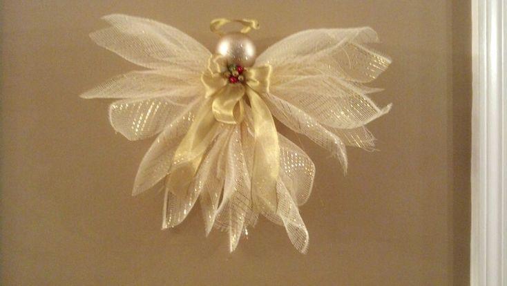 gold deco mesh angel wreaths pinterest videos angel and mesh. Black Bedroom Furniture Sets. Home Design Ideas