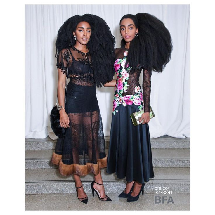 TK Quann in a Blumarine Fall Winter 2016/17 sheer black skirt with fur detailing at the hem and Cipriana Quann in a Blumarine Fall Winter 2016/17 black silk dress with multicolored floral print and sheer lace sleeves to the 2016 Guggenheim International Gala Pre-Party. • New York, USA – November 16, 2016