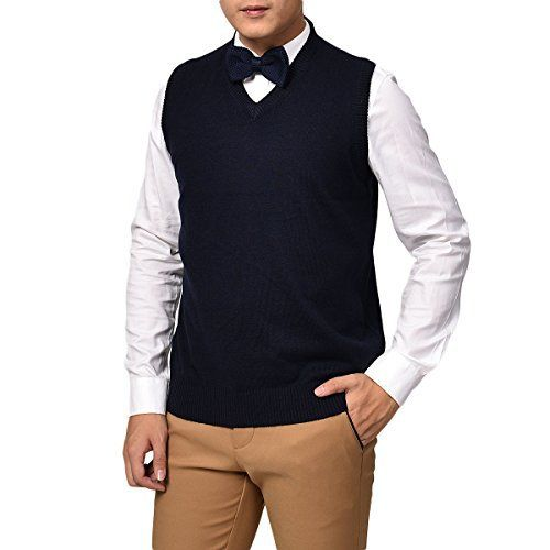 Product review for VOBOOM Men's V-Neck Sweater Vest BDYH001.  Whether dressed up, or worn casually, VOBOOM vest offers multiple style possibilities. It can be worn with a variety of button down collared shirts, with or without a tie, polo shirts, and even crew neck tee shirts. And there's even the option to wear it under a sport jacket, blazer, or...