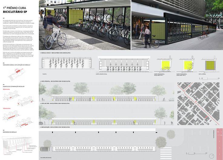 Resultados do 1º Prêmio {CURA}: Bicicletário,Segundo Lugar - Prancha. Image Cortesia de 1º Prêmio {CURA}