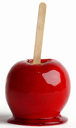 candy apple...because Dad would always get one for my brother & I on Halloween!