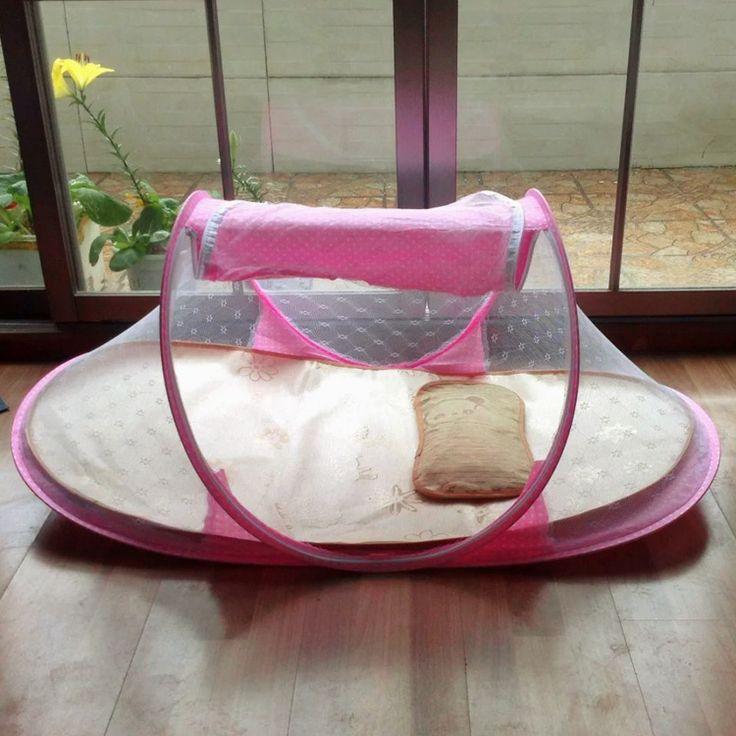 Baby care 2016 Портативный Детская Кровать Детская Кровать Складной Москитная сетка кровать Младенческая Подушка Матрас детская кроватка с кровати, детские кроватки 110*38*62 см