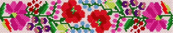 KIKI GYÖNGYEI: Kalocsai karkötő újra + peyote minta