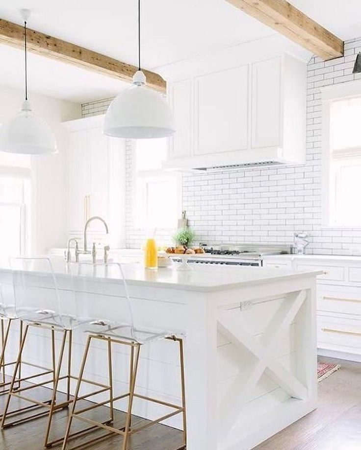 White and wood kitchen see this instagram post by for Kitchen design 10 5 full patch