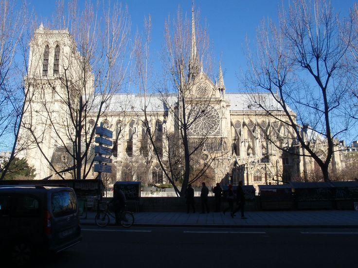 Al frente abajo el Sena y luego Notre Dame
