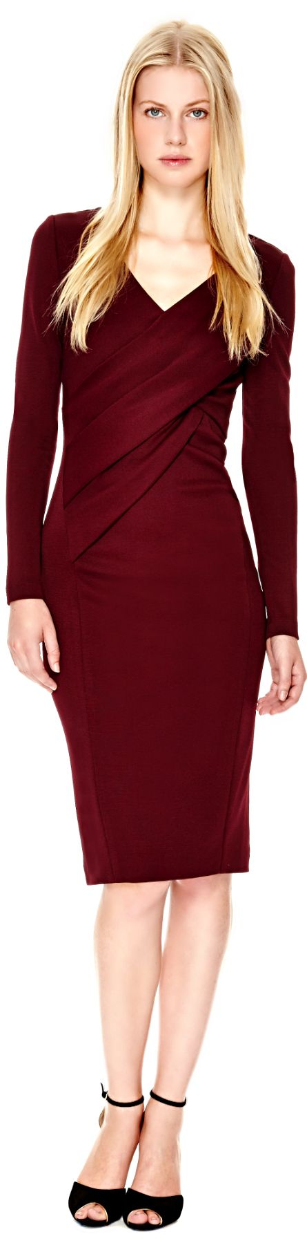 Donna Karan ● Draped Jersey Dress