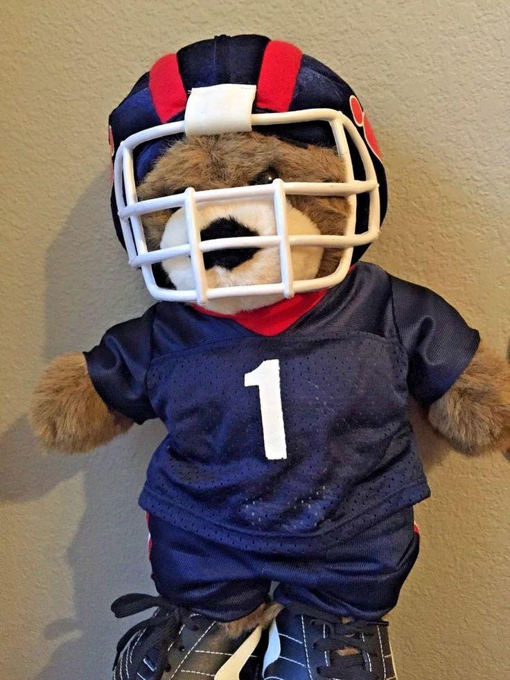 "Build•A•Bear Plush Teddy with Football Helmet, Uniform & Cleats 17"" #BuildaBear #AllOccasion"