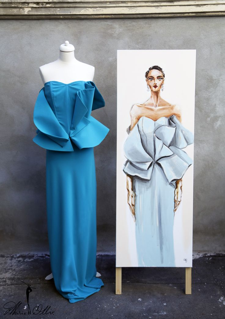 Marie Ollie Fashion Illustrations by Arthur Dinu