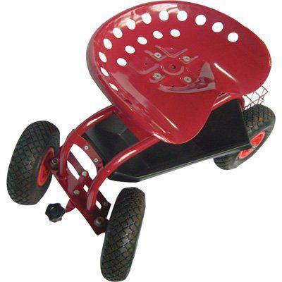 Multipurpose Work Seat Garden Hopper Green Cart With Wheels