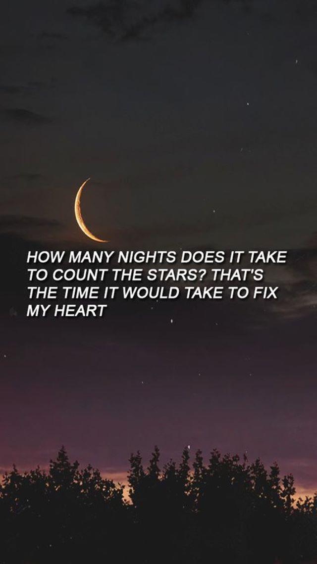 Infinity  cuantas noches se tarda en contar las estrellas? Es el tiempo que tomaría para arreglar corazón